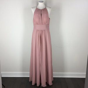 Azazie L Rose Pink Formal Gown Evening dress ruche